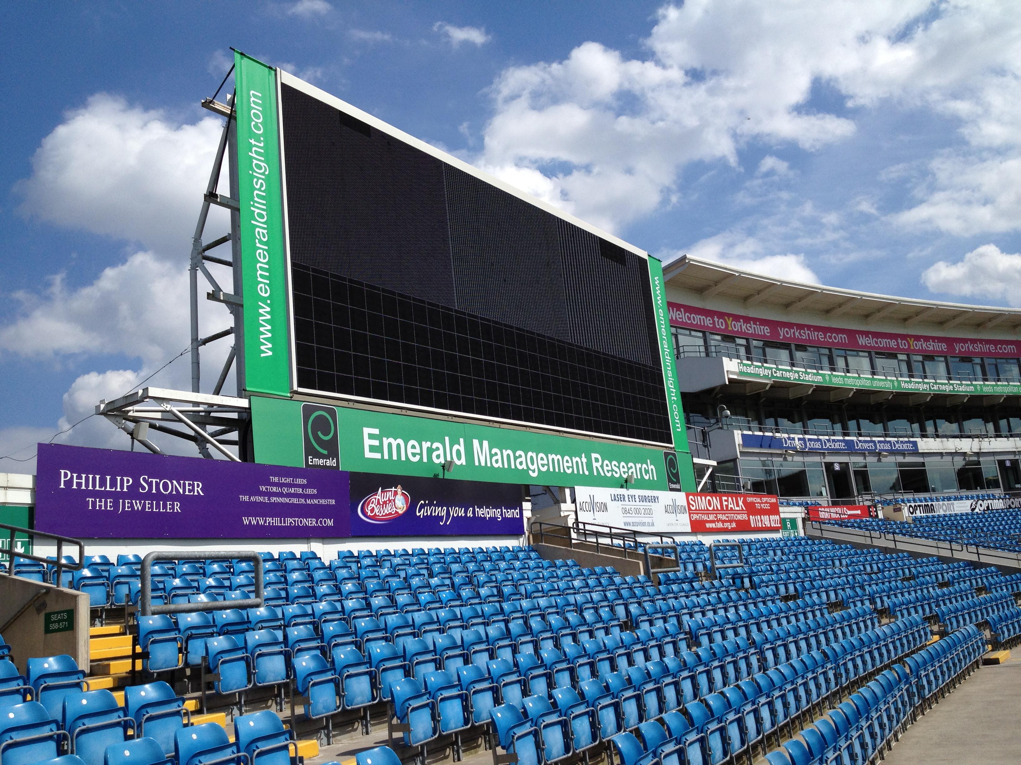Large Screen Installation Stadium Amp Leisure Environments